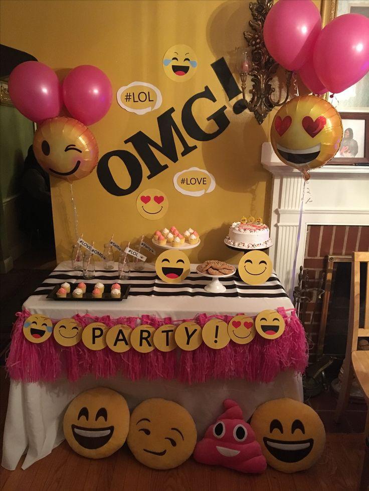 Best ideas about Emoji Birthday Party Decorations . Save or Pin 80 best images about Emoji Party Ideas on Pinterest Now.