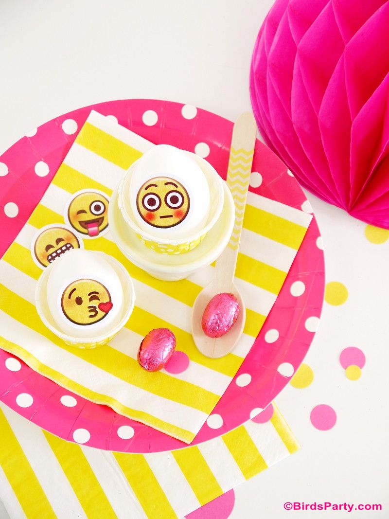 Best ideas about Emoji Birthday Party Decorations . Save or Pin Awesome DIY Emoji Birthday Party Ideas Party Ideas Now.