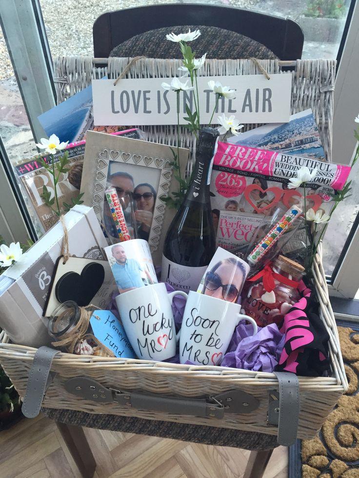 Best ideas about Engagement Gift Basket Ideas . Save or Pin Engagement hamper Engagement Now.