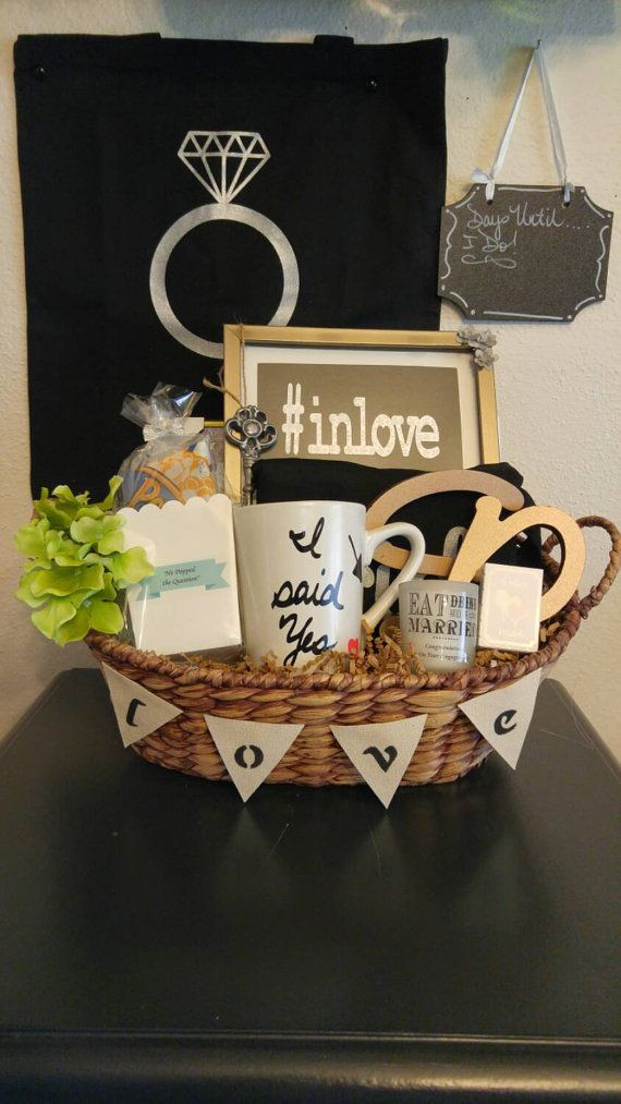 Best ideas about Engagement Gift Basket Ideas . Save or Pin Wedding Basket Ideas For Bride And Groom Now.