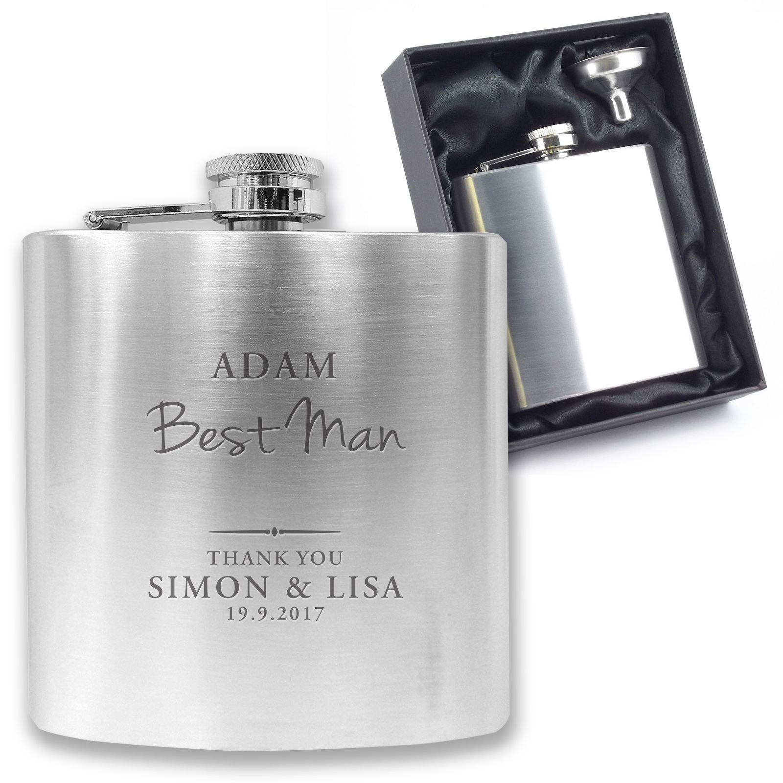 Best ideas about Engraved Gift Ideas . Save or Pin Personalised engraved BEST MAN hip flask wedding thank you Now.
