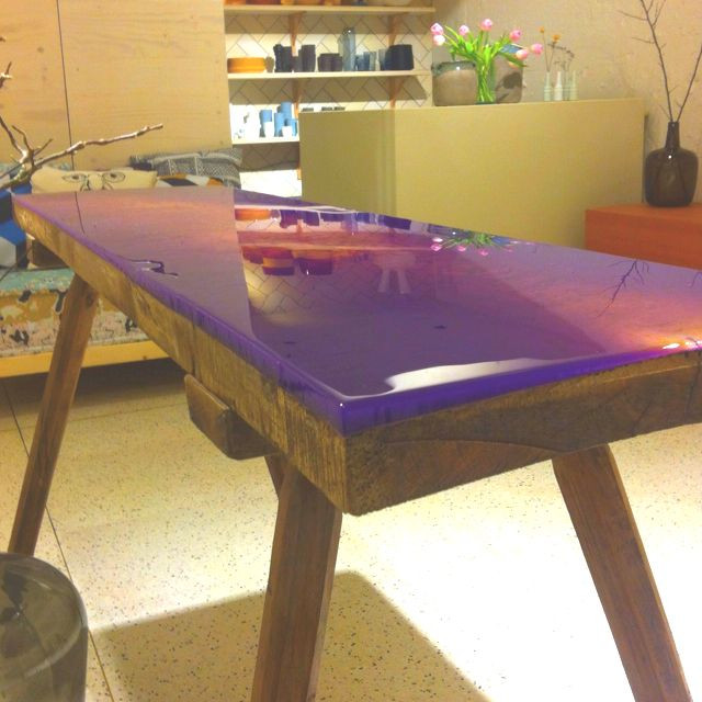 Best ideas about Epoxy Resin Table Top DIY . Save or Pin Epoxy table by woodblogger Now.