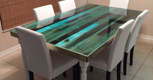 Best ideas about Epoxy Resin Table Top DIY . Save or Pin I made it Reclaimed pallet table top finished with epoxy Now.
