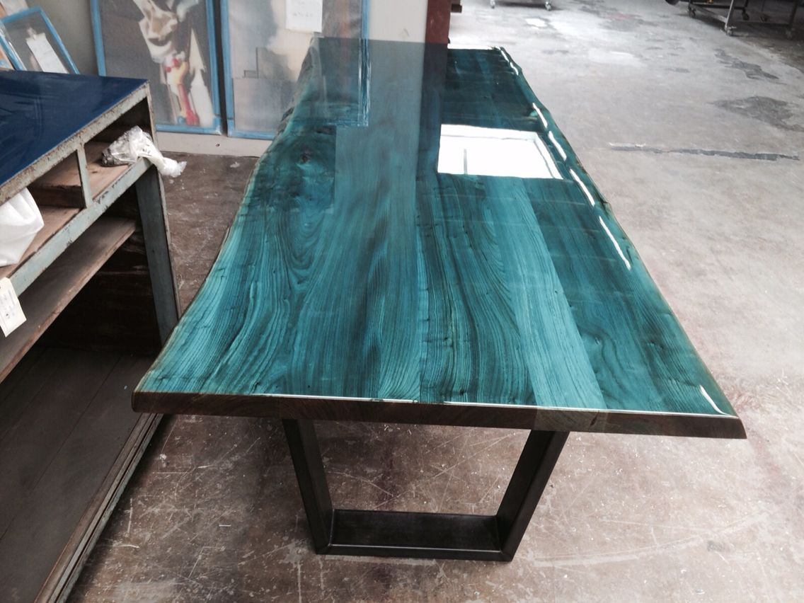 Best ideas about Epoxy Resin Table Top DIY . Save or Pin Intense blue on elm tabletop Designed and produced by Now.