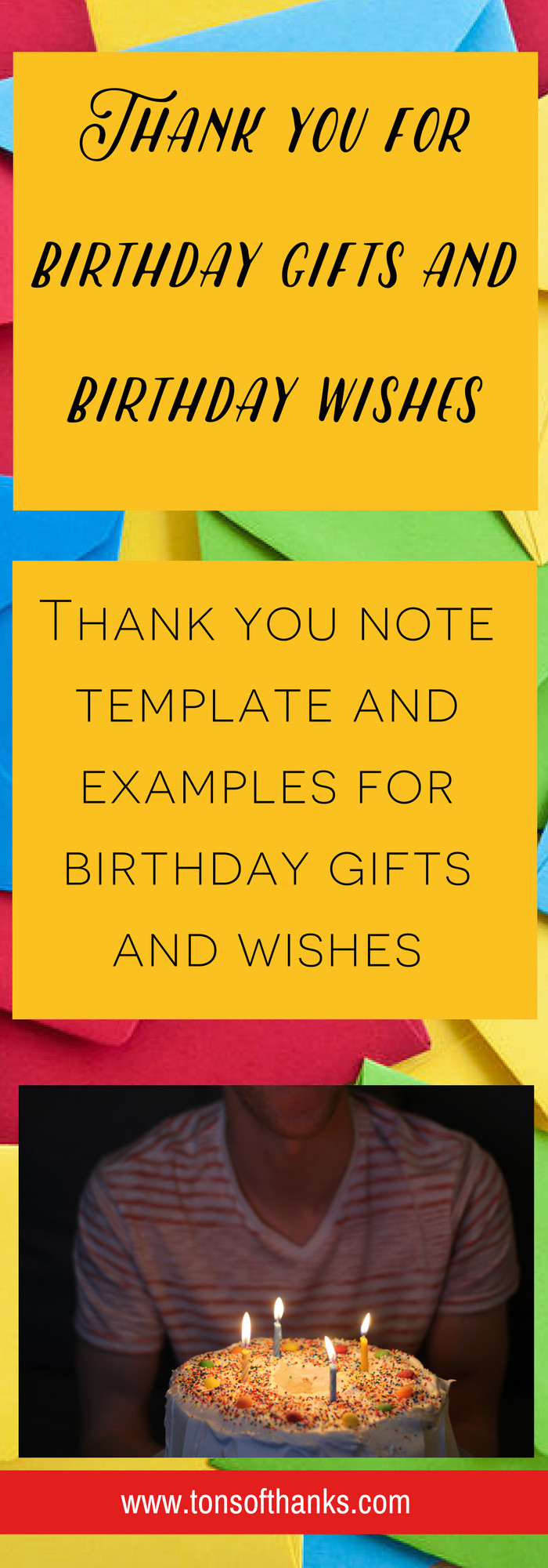 Best ideas about Examples Of Birthday Wishes . Save or Pin Thank you for the birthday wishes Thank you note examples Now.