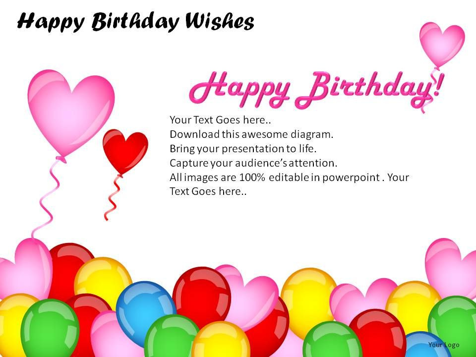 Best ideas about Examples Of Birthday Wishes . Save or Pin Happy Birthday Wishes Powerpoint Presentation Slides Now.