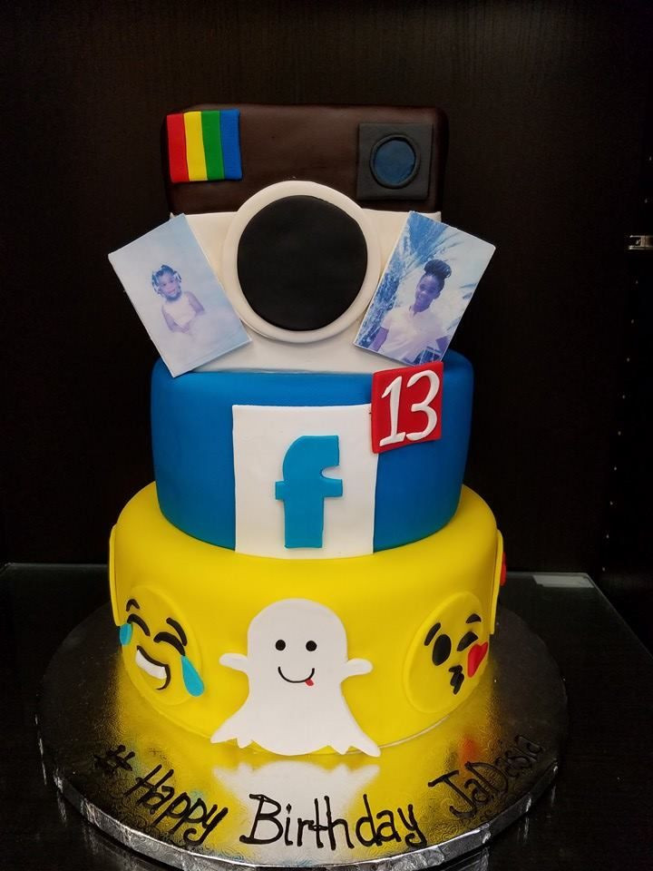 Best ideas about Facebook Birthday Cake . Save or Pin Social Media Cake Snapchat Instagram Now.