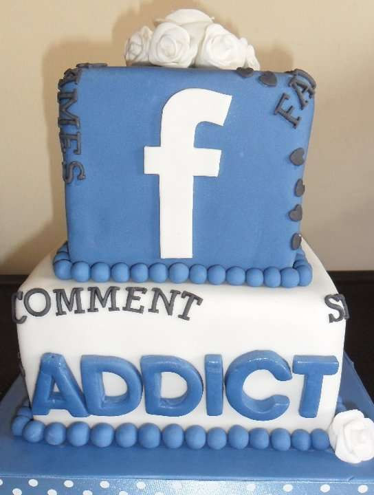 Best ideas about Facebook Birthday Cake . Save or Pin Social Media Wedding Confections cake Now.