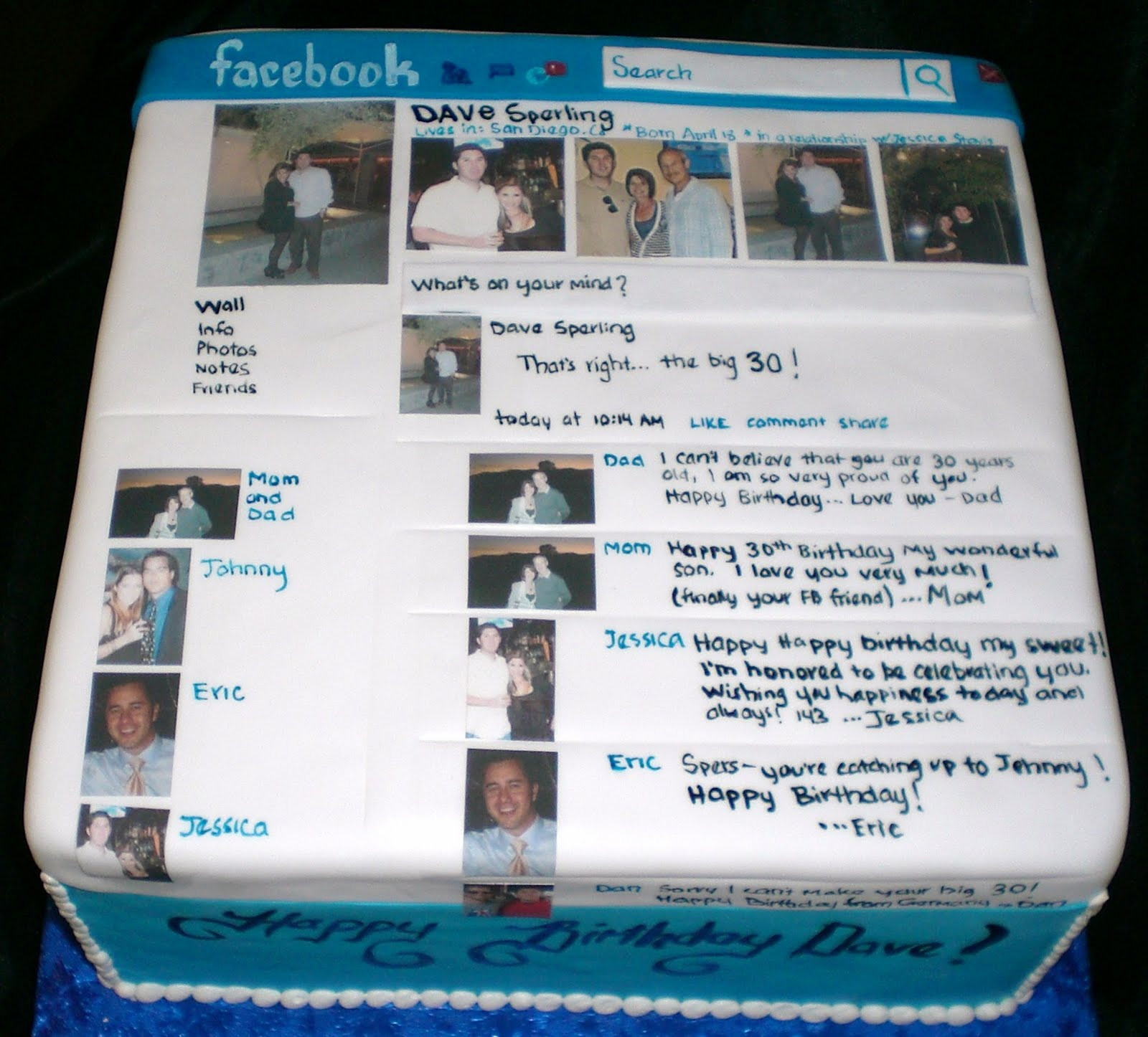 Best ideas about Facebook Birthday Cake . Save or Pin The Crimson Cake Blog Cake Now.
