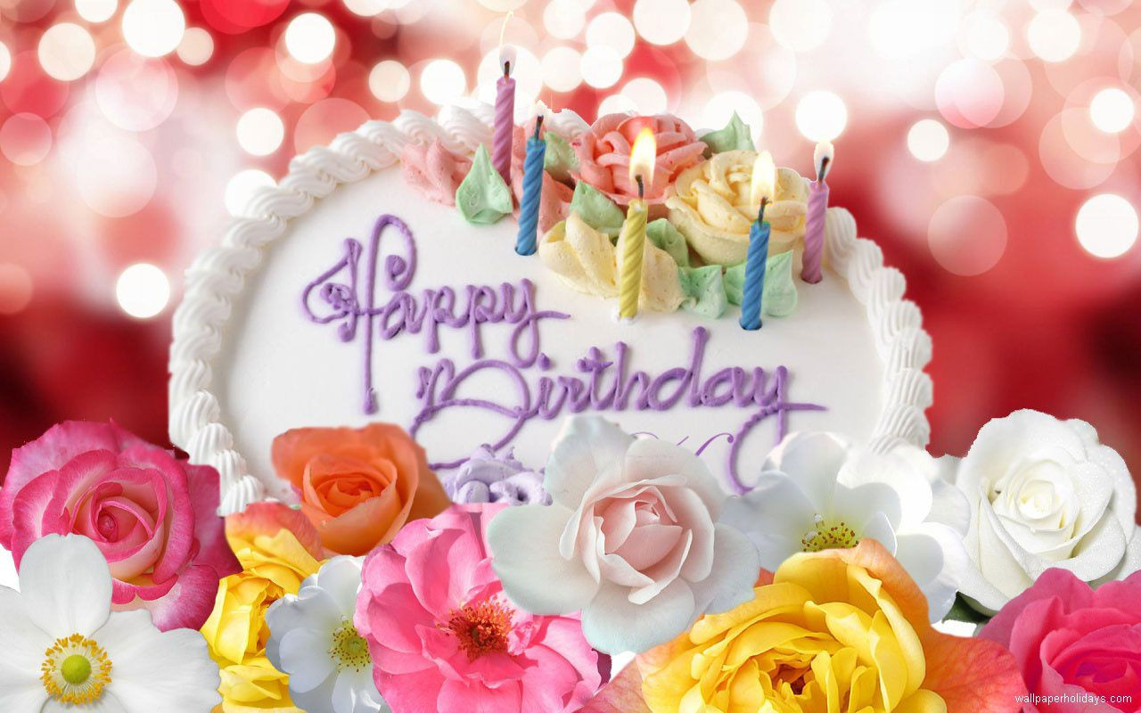 Best ideas about Facebook Birthday Wishes . Save or Pin Cute Happy Birthday Cake And Flower Graphic Now.