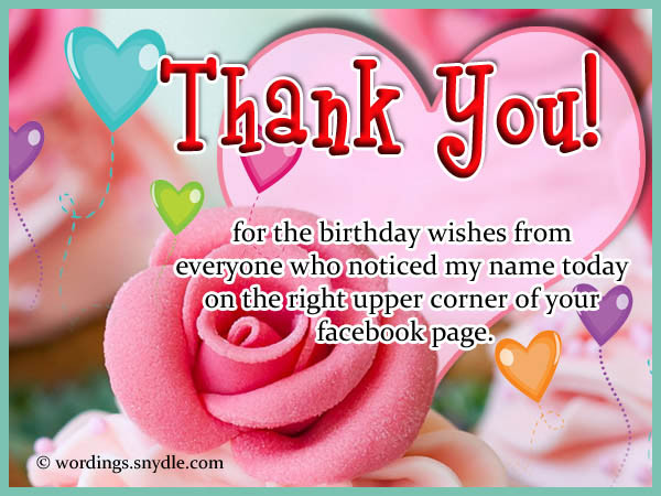 Best ideas about Facebook Thank You For Birthday Wishes . Save or Pin 1000 images about ♥♥THANK YOU♥♥ on Pinterest Now.