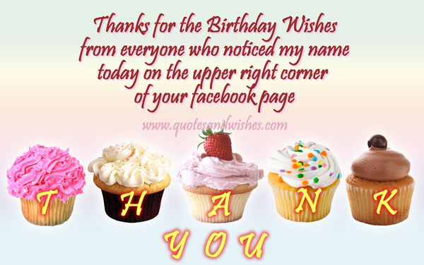 Best ideas about Facebook Thank You For Birthday Wishes . Save or Pin 06 04 14 Now.
