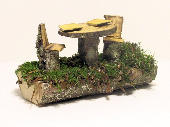 Best ideas about Fairy Furniture DIY . Save or Pin Woodland Fairy House Furniture Table and Chairs Now.