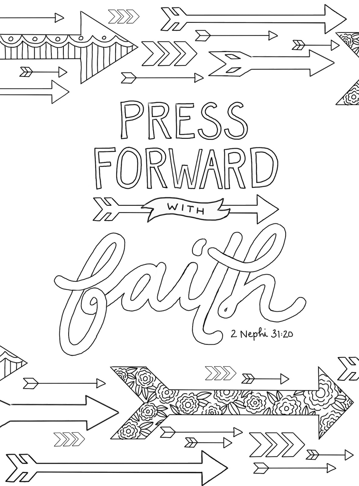 """Best ideas about Faith Coloring Pages For Kids . Save or Pin just what i squeeze in """"Press Forward with Faith Now."""