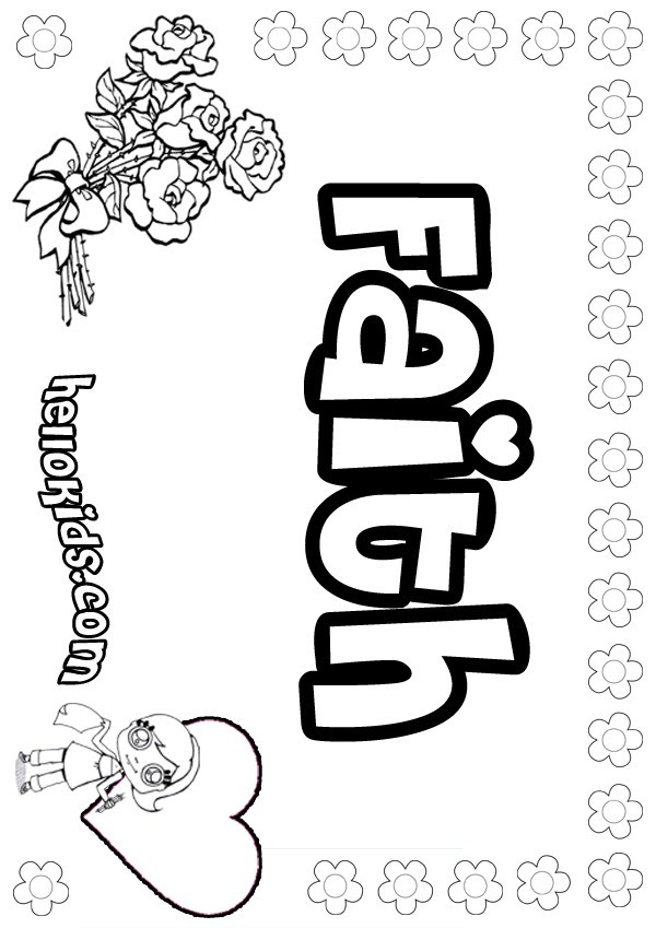 Best ideas about Faith Coloring Pages For Kids . Save or Pin Faith coloring pages Hellokids Now.