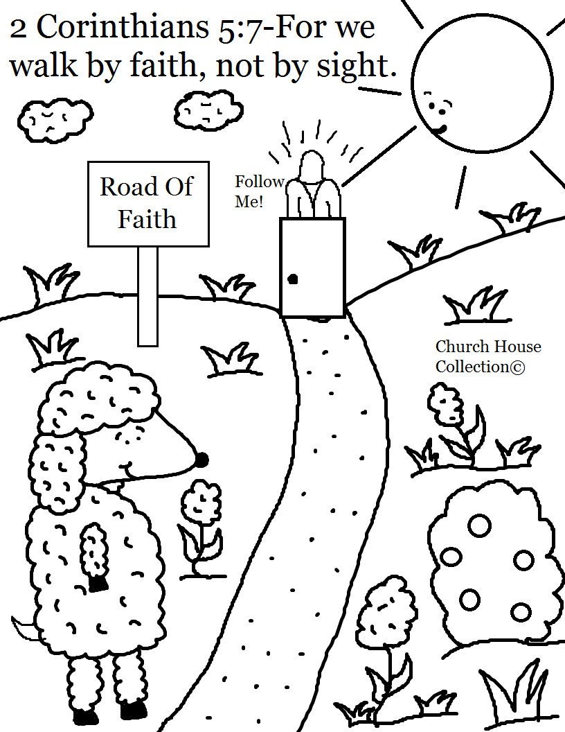 Best ideas about Faith Coloring Pages For Kids . Save or Pin Church House Collection Blog April 2014 Now.