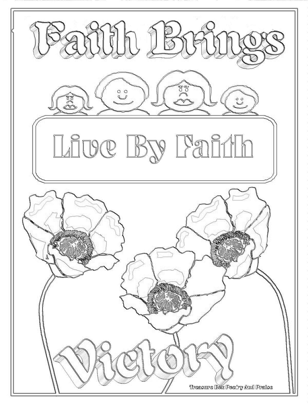Best ideas about Faith Coloring Pages For Kids . Save or Pin Children s Gems In My Treasure Box Faith Brings Victory Now.