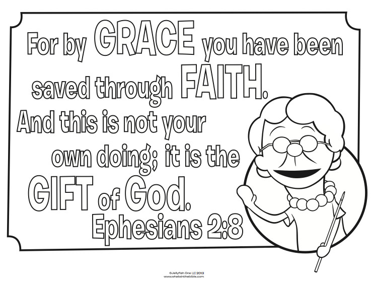Best ideas about Faith Coloring Pages For Kids . Save or Pin Grace and Faith Coloring Page Whats in the Bible Now.