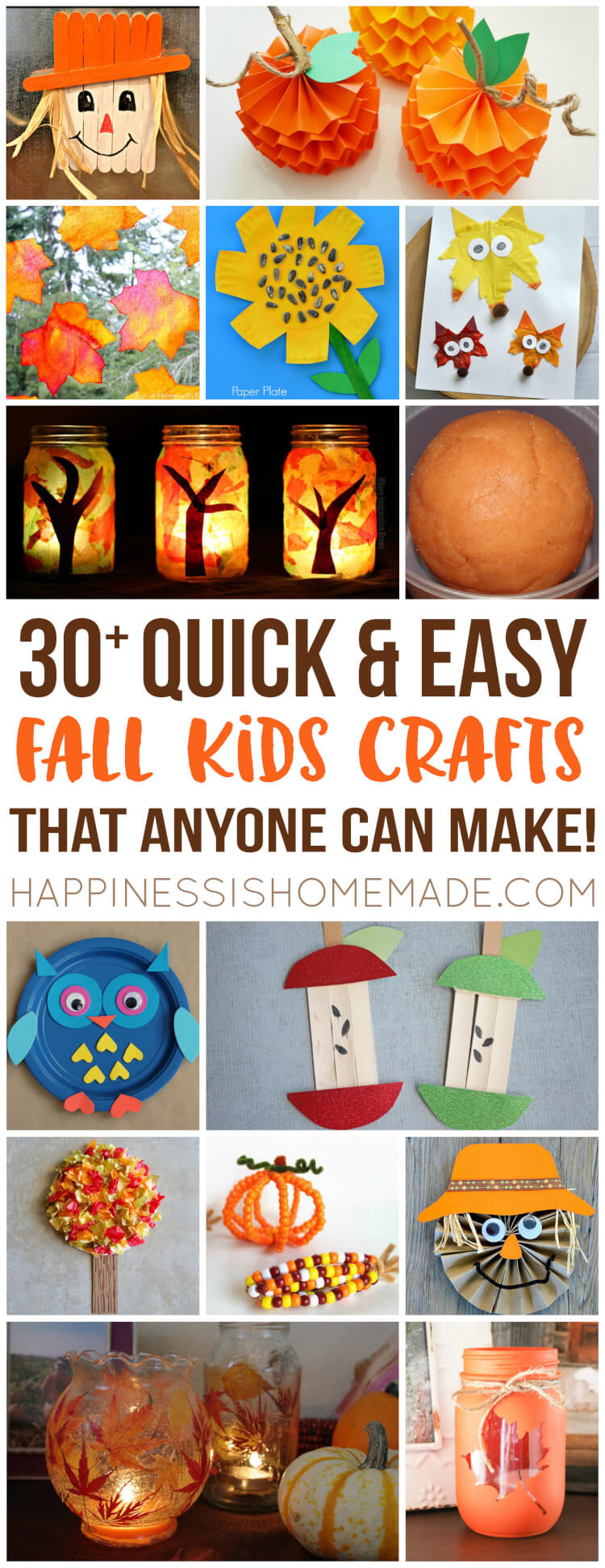 Best ideas about Fall Craft Ideas . Save or Pin Easy Fall Kids Crafts That Anyone Can Make Happiness is Now.