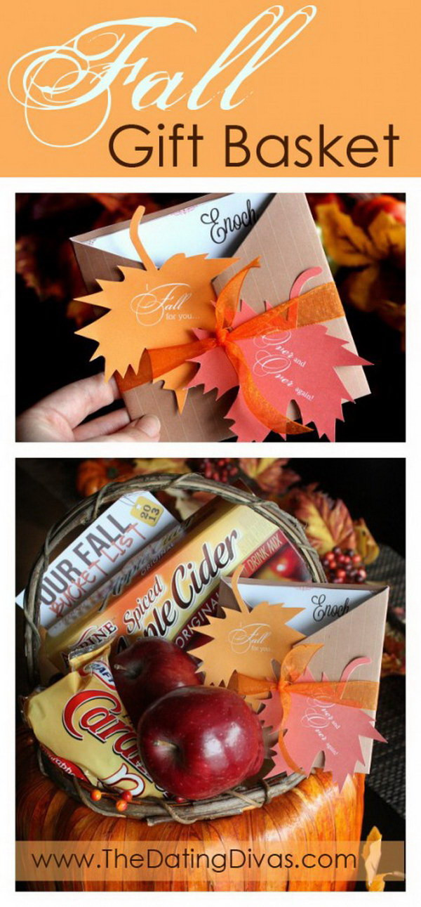 Best ideas about Fall Gift Ideas . Save or Pin 35 Creative DIY Gift Basket Ideas for This Holiday Hative Now.