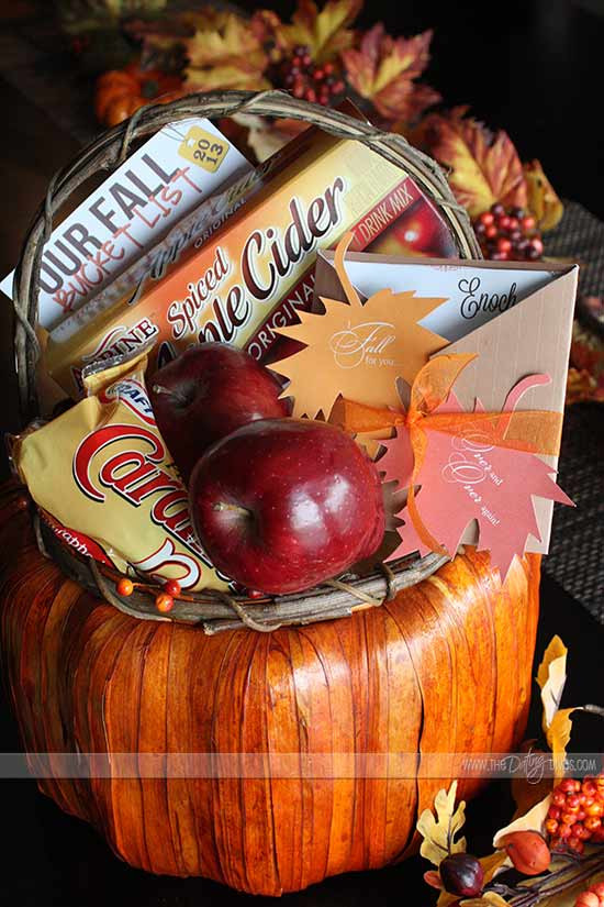 "Best ideas about Fall Gift Ideas . Save or Pin I ""Fall"" For You Gift Basket Now."