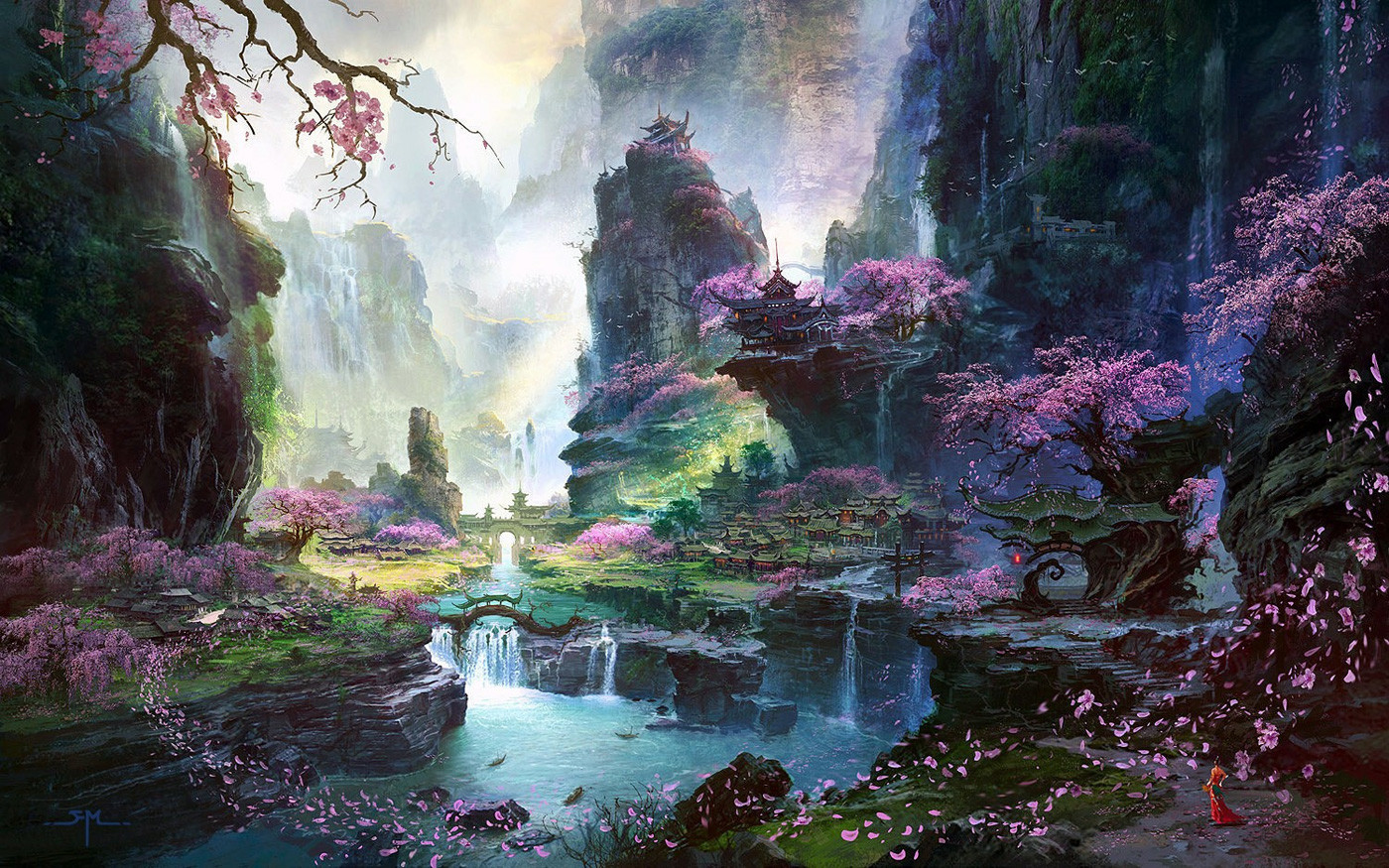 Best ideas about Fantasy Landscape Art . Save or Pin Fan Ming Now.