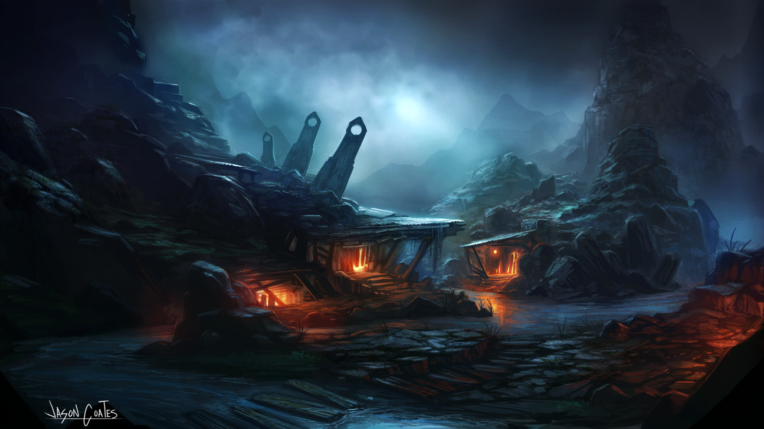 Best ideas about Fantasy Landscape Art . Save or Pin Fantasy Landscape by AtTheSpeed on Newgrounds Now.