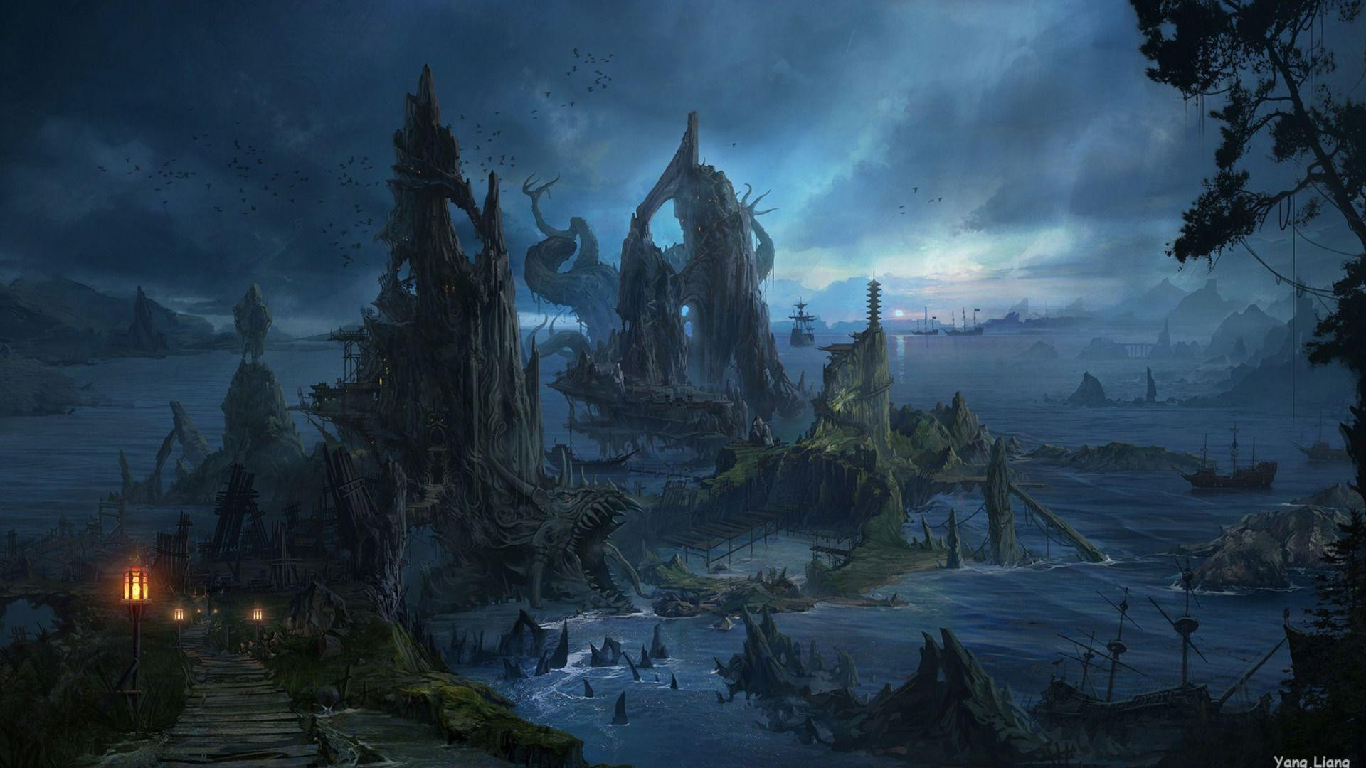 Best ideas about Fantasy Landscape Art . Save or Pin Fantasy Landscape Wallpapers Wallpaper Cave Now.