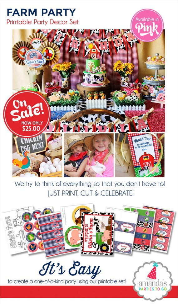 Best ideas about Farm Birthday Party Supplies . Save or Pin Farm Birthday Party Farm Party Decorations by Now.