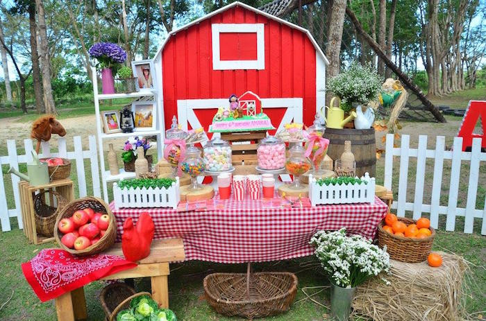 Best ideas about Farm Birthday Party Supplies . Save or Pin Kara s Party Ideas Chic Barnyard Birthday Party Now.