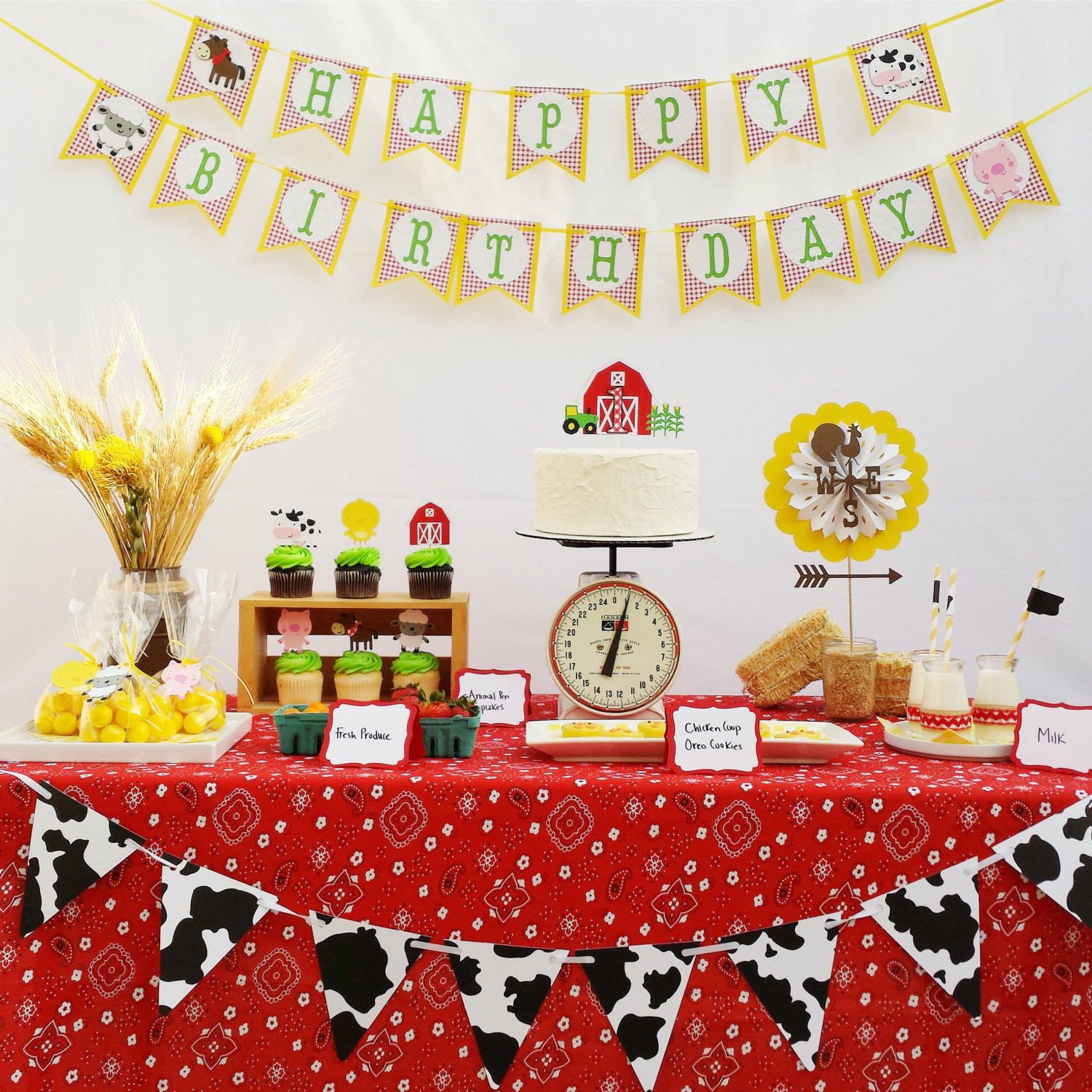 Best ideas about Farm Birthday Party Supplies . Save or Pin Farm Birthday Party Decorations Package Farm Animals Garland Now.