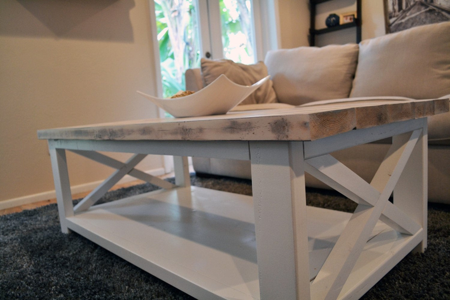 Best ideas about Farmhouse Coffee Table . Save or Pin Custom Rustic Farmhouse Coffee Table Now.