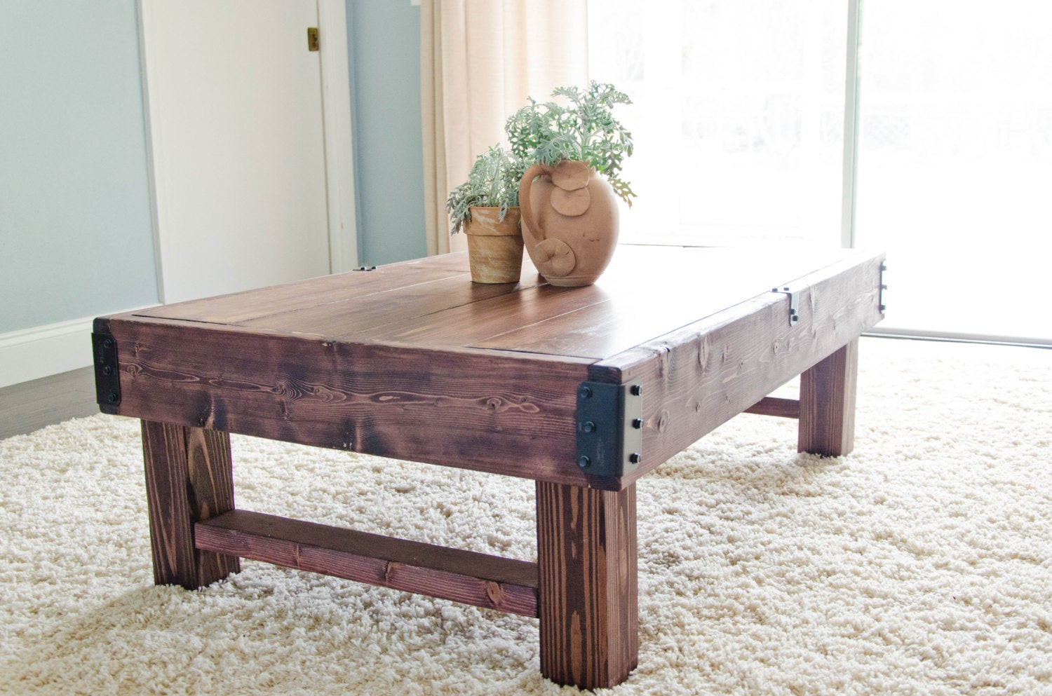 Best ideas about Farmhouse Coffee Table . Save or Pin Rustic Coffee Table Farmhouse Coffee Table Rustic Industrial Now.