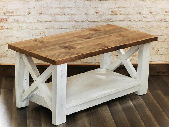Best ideas about Farmhouse Coffee Table . Save or Pin Farmhouse Coffee Table Made from Reclaimed Wood X Detail Now.