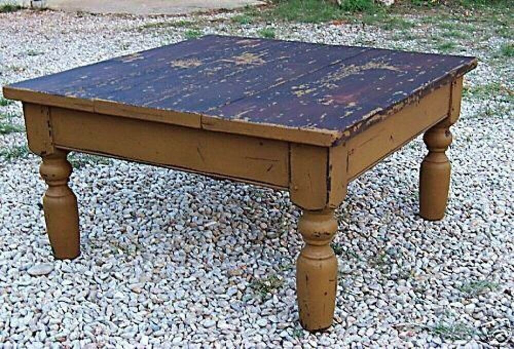 Best ideas about Farmhouse Coffee Table . Save or Pin PRIMITIVE ANTIQUE REPRODUCTION PINE FARM FARMHOUSE COFFEE Now.