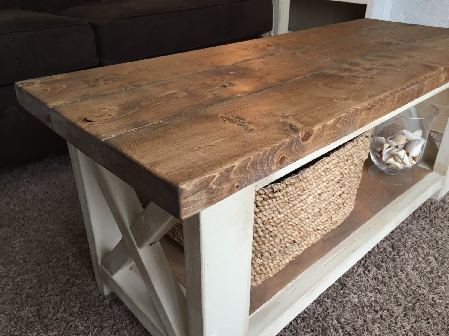 Best ideas about Farmhouse Coffee Table . Save or Pin Custom Farmhouse Coffee Table Rustic Coffee Table Now.