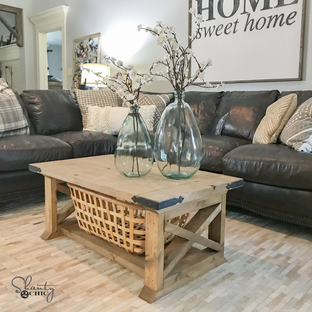 Best ideas about Farmhouse Coffee Table . Save or Pin DIY 8 Board Farmhouse Coffee Table Shanty 2 Chic Now.