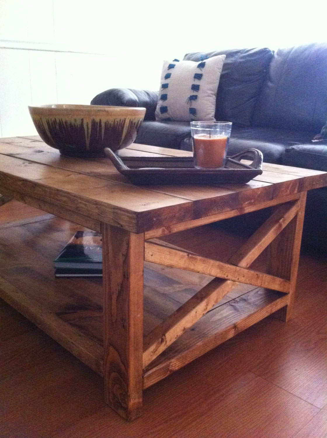 Best ideas about Farmhouse Coffee Table . Save or Pin Handmade Rustic X Wood Farmhouse Coffee Table Now.