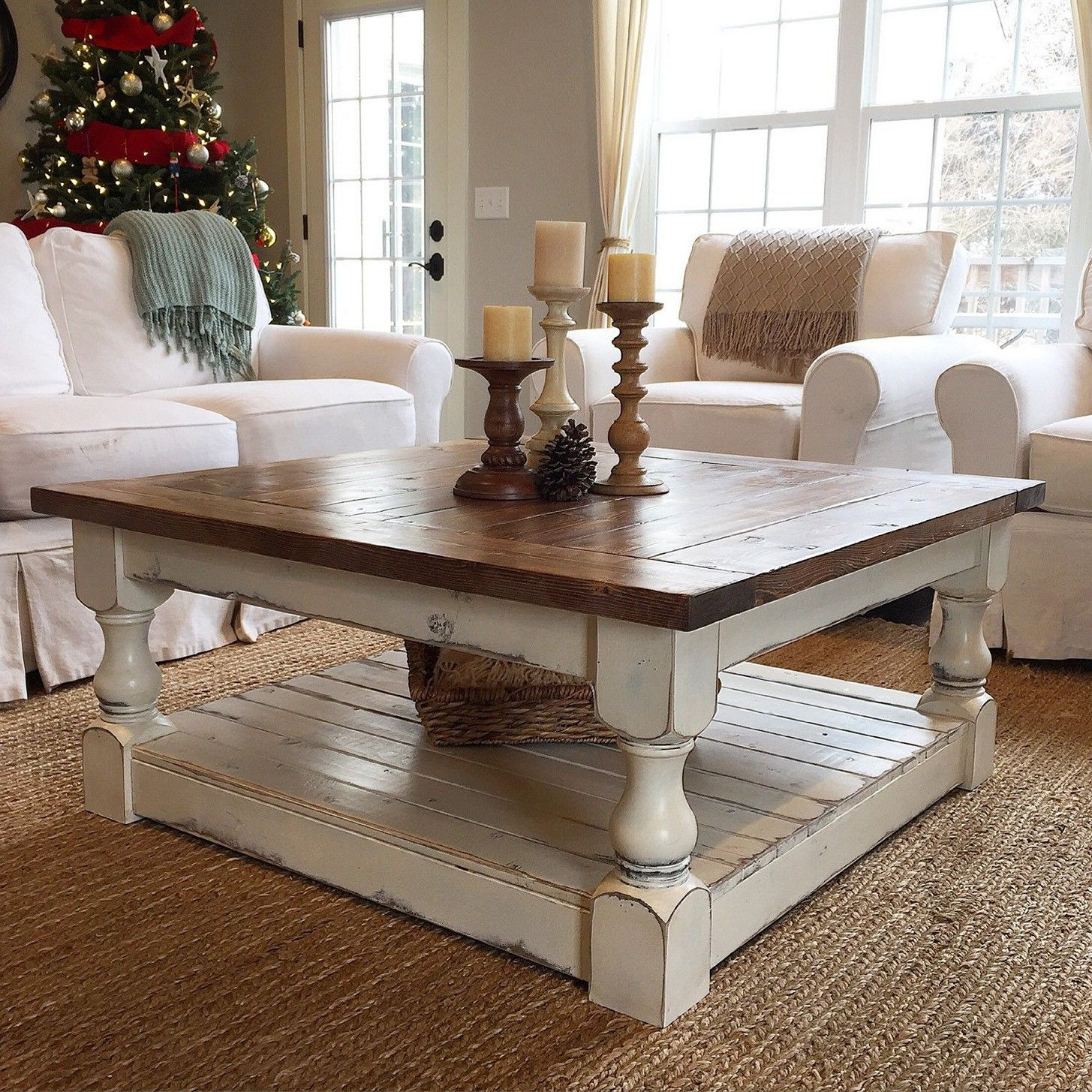 Best ideas about Farmhouse Coffee Table . Save or Pin Chunky Farmhouse Coffee Table … Now.