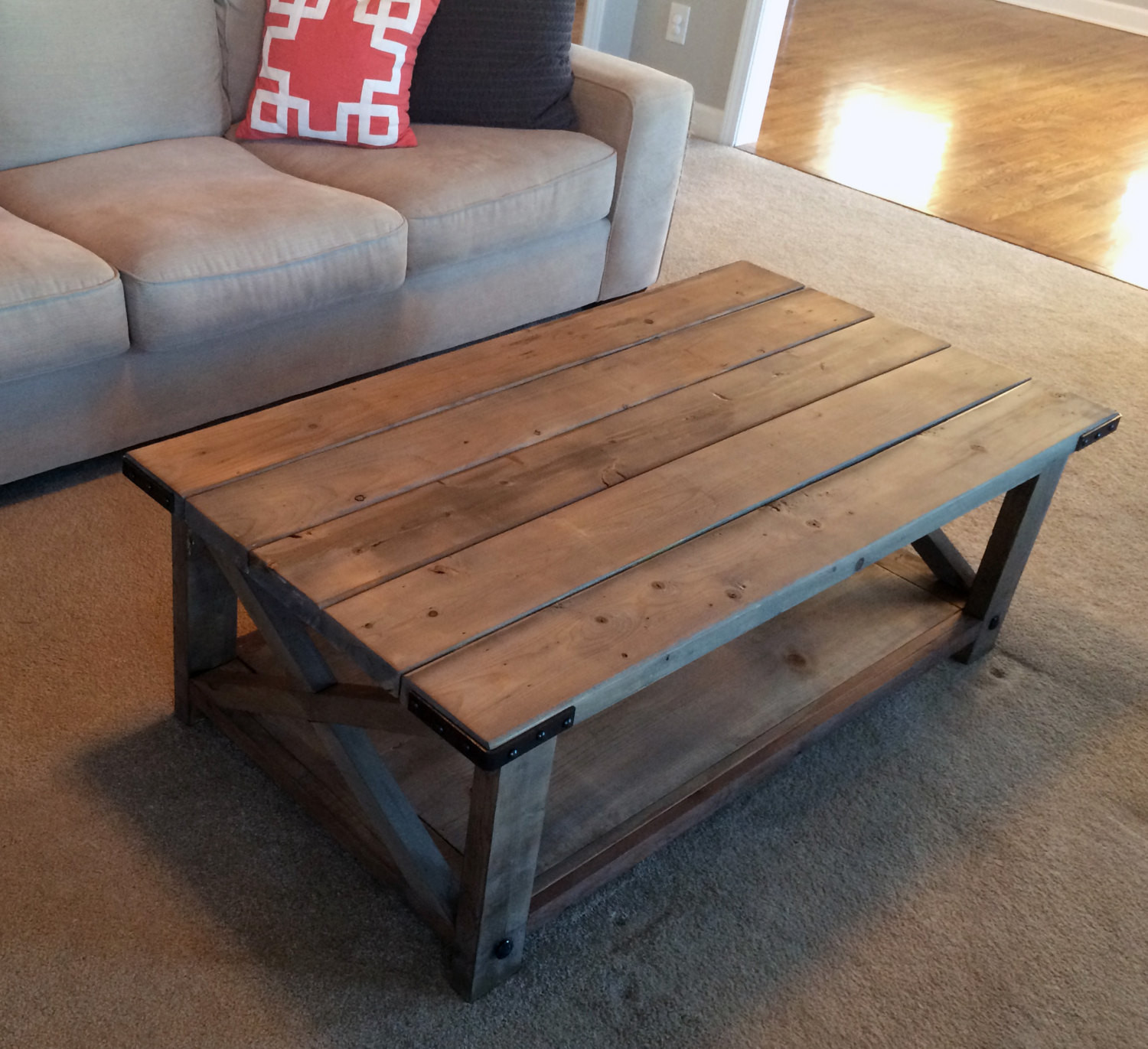 Best ideas about Farmhouse Coffee Table . Save or Pin Farmhouse Coffee Table Weathered by TheChicNShabbyBean on Etsy Now.