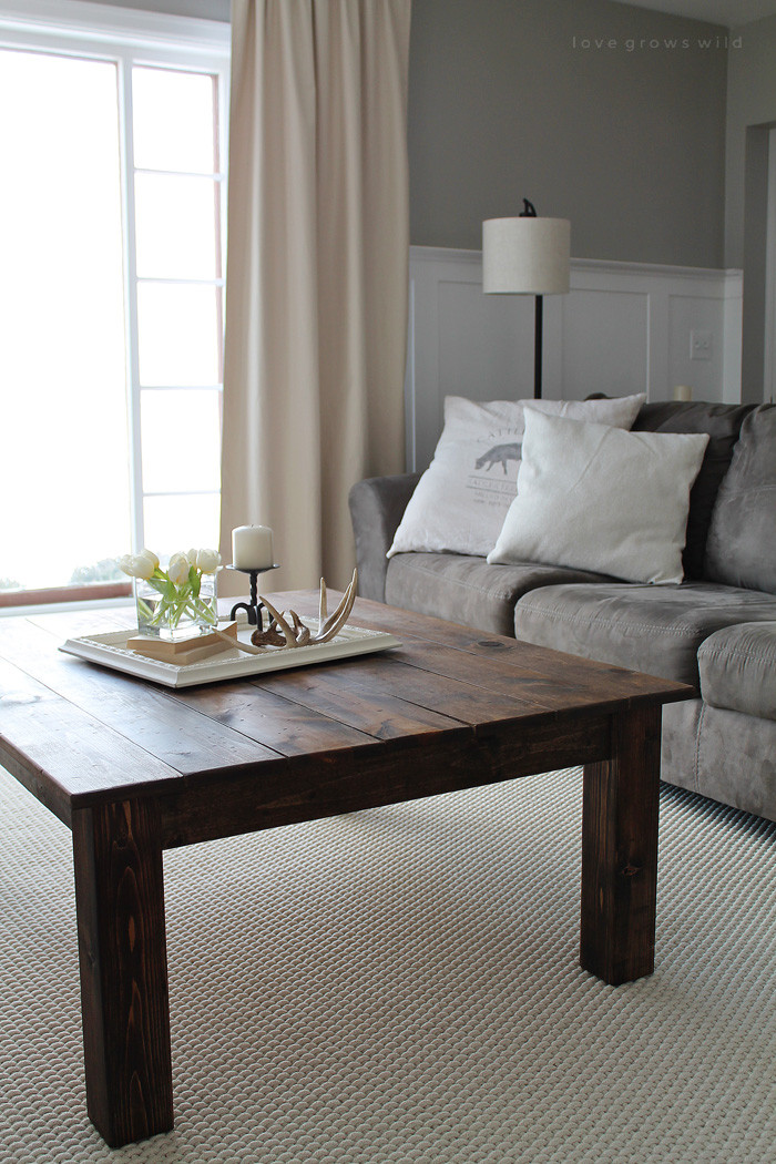 Best ideas about Farmhouse Coffee Table . Save or Pin DIY Farmhouse Coffee Table Love Grows Wild Now.