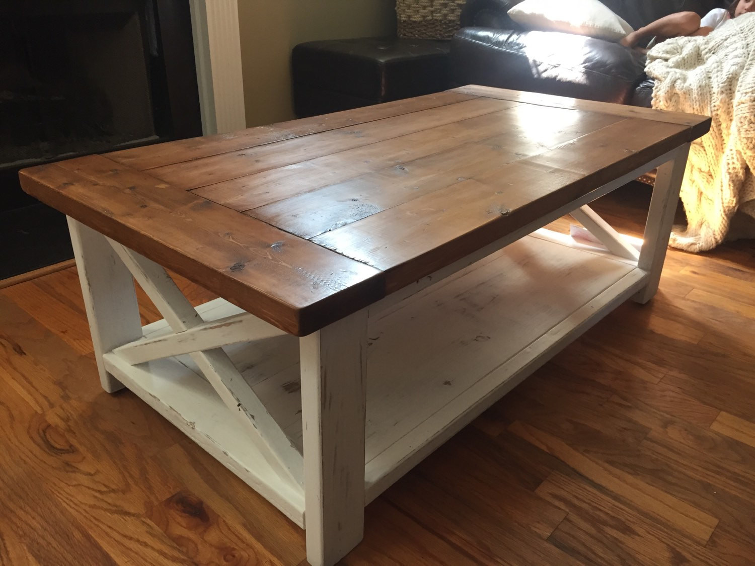 Best ideas about Farmhouse Coffee Table . Save or Pin Farmhouse Coffee Table Now.