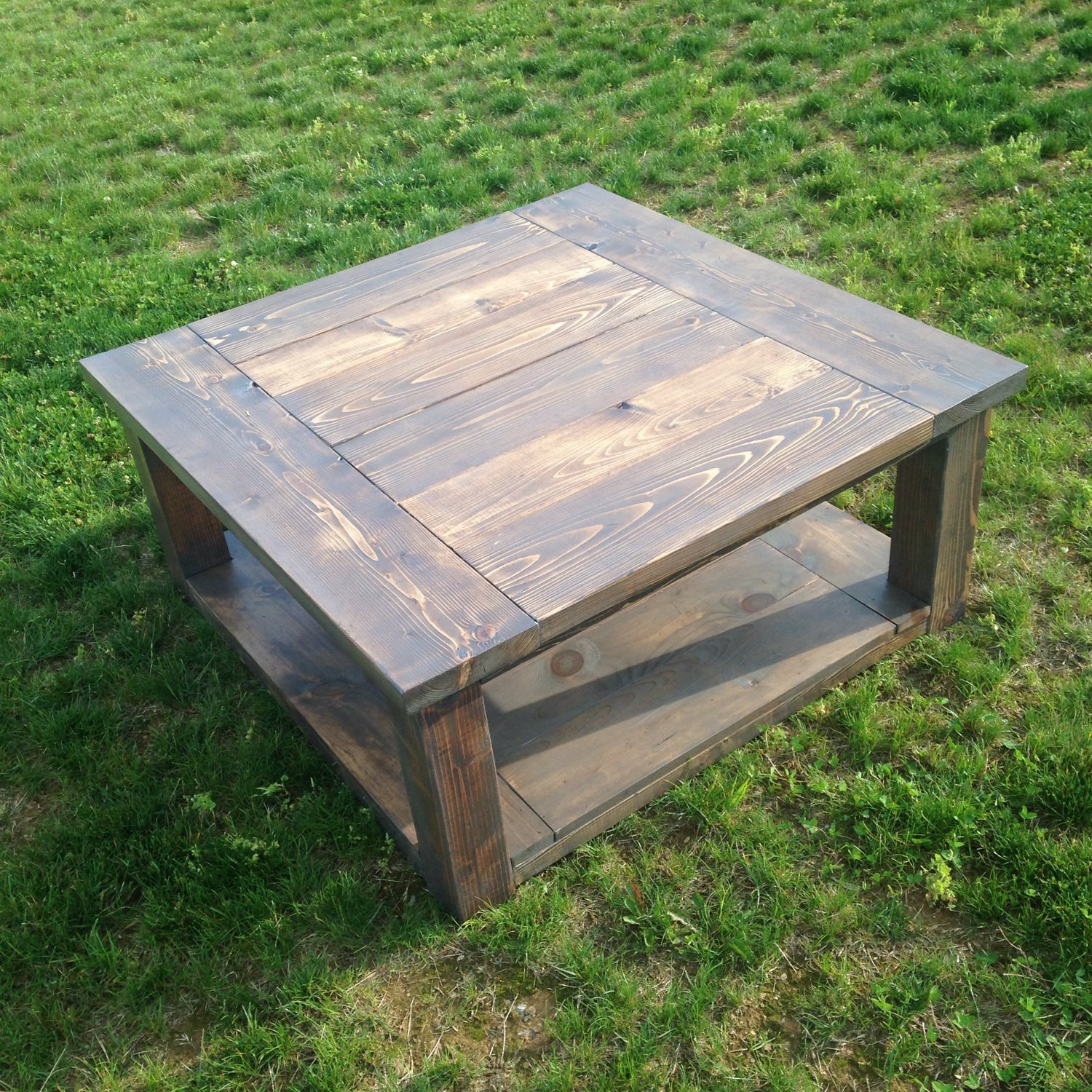 Best ideas about Farmhouse Coffee Table . Save or Pin Square Farmhouse Coffee Table Now.