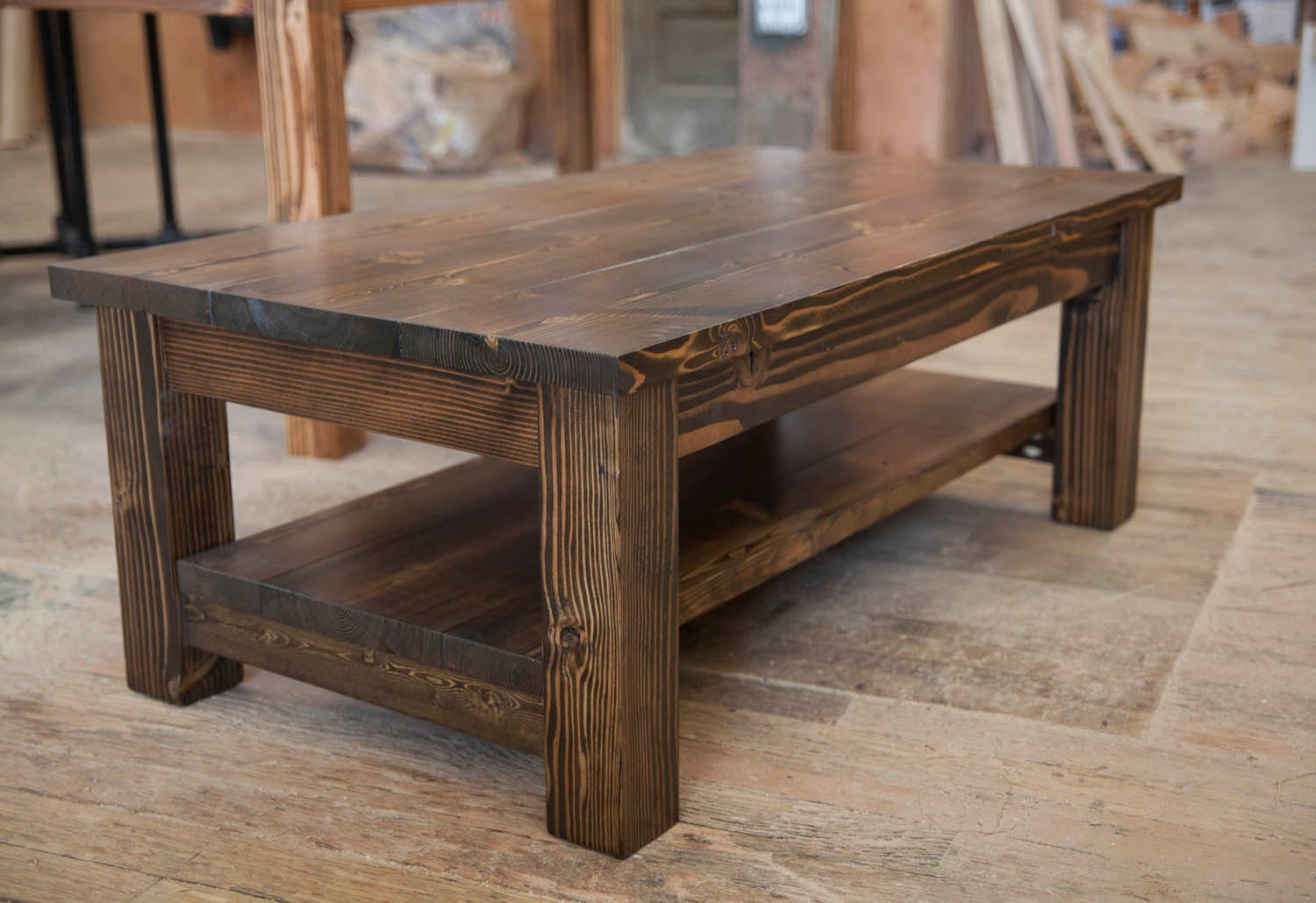 Best ideas about Farmhouse Coffee Table . Save or Pin Farmhouse Coffee Table Rustic Coffee Table Solid Wood Now.