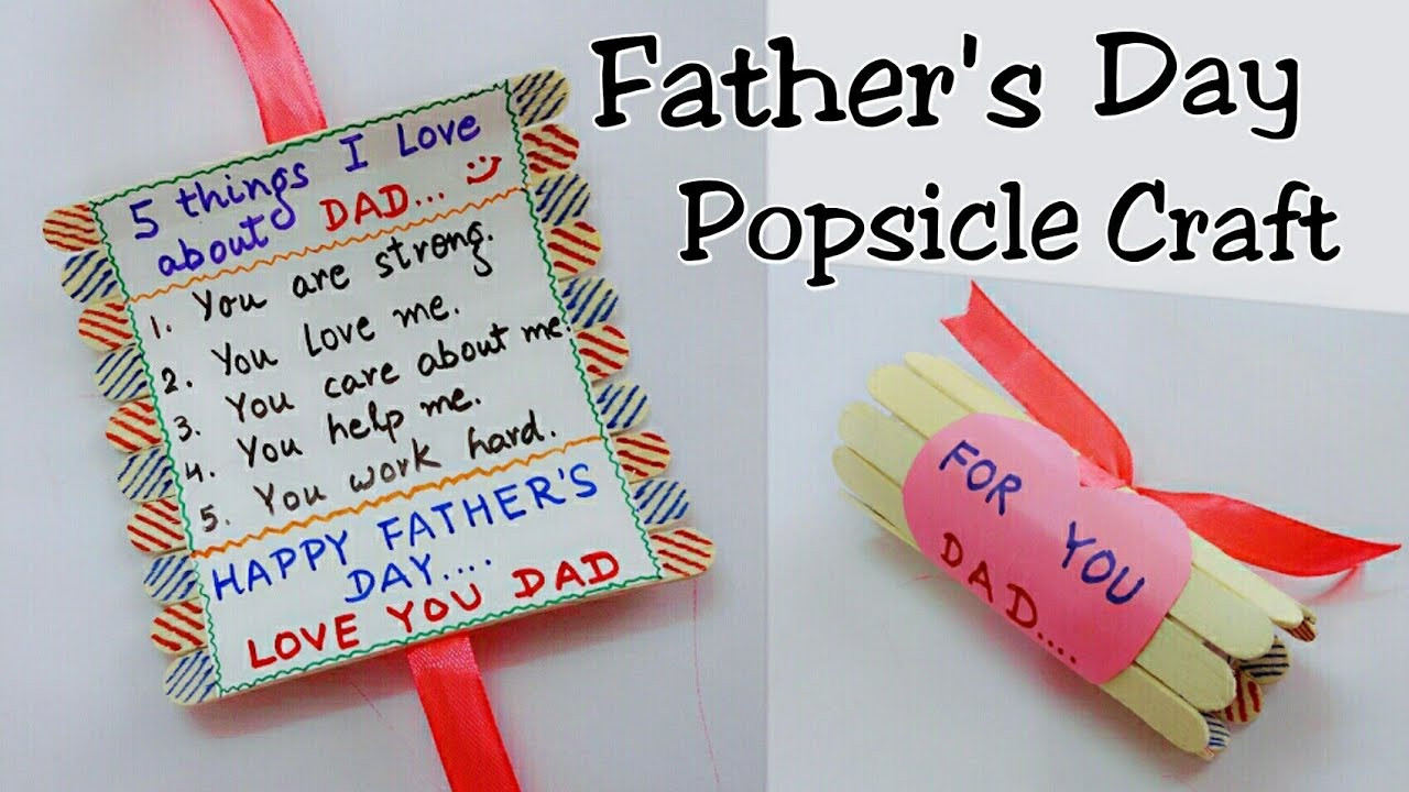 Best ideas about Father'S Day Craft Gift Ideas . Save or Pin Best Gift Idea for Father s Day Father s Day Popsicle Now.