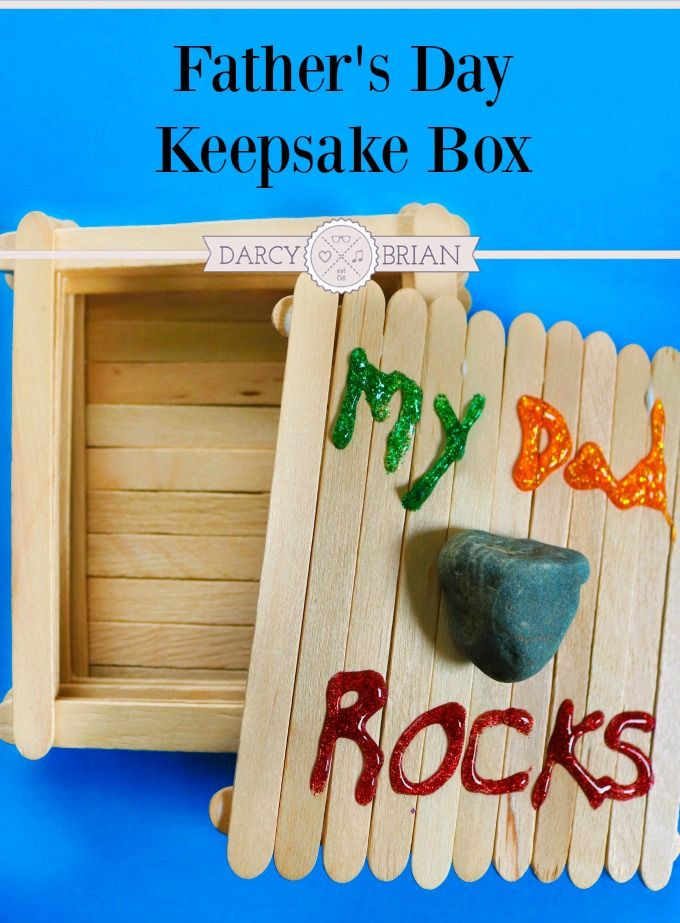 Best ideas about Father'S Day Craft Gift Ideas . Save or Pin My Dad Rocks Keepsake Box Father s Day Craft for Kids Now.