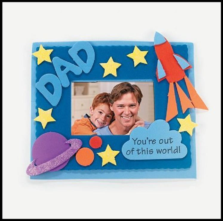 Best ideas about Father'S Day DIY . Save or Pin Father s Day Dad Frame Craft Kit For Kids Outer Space Now.