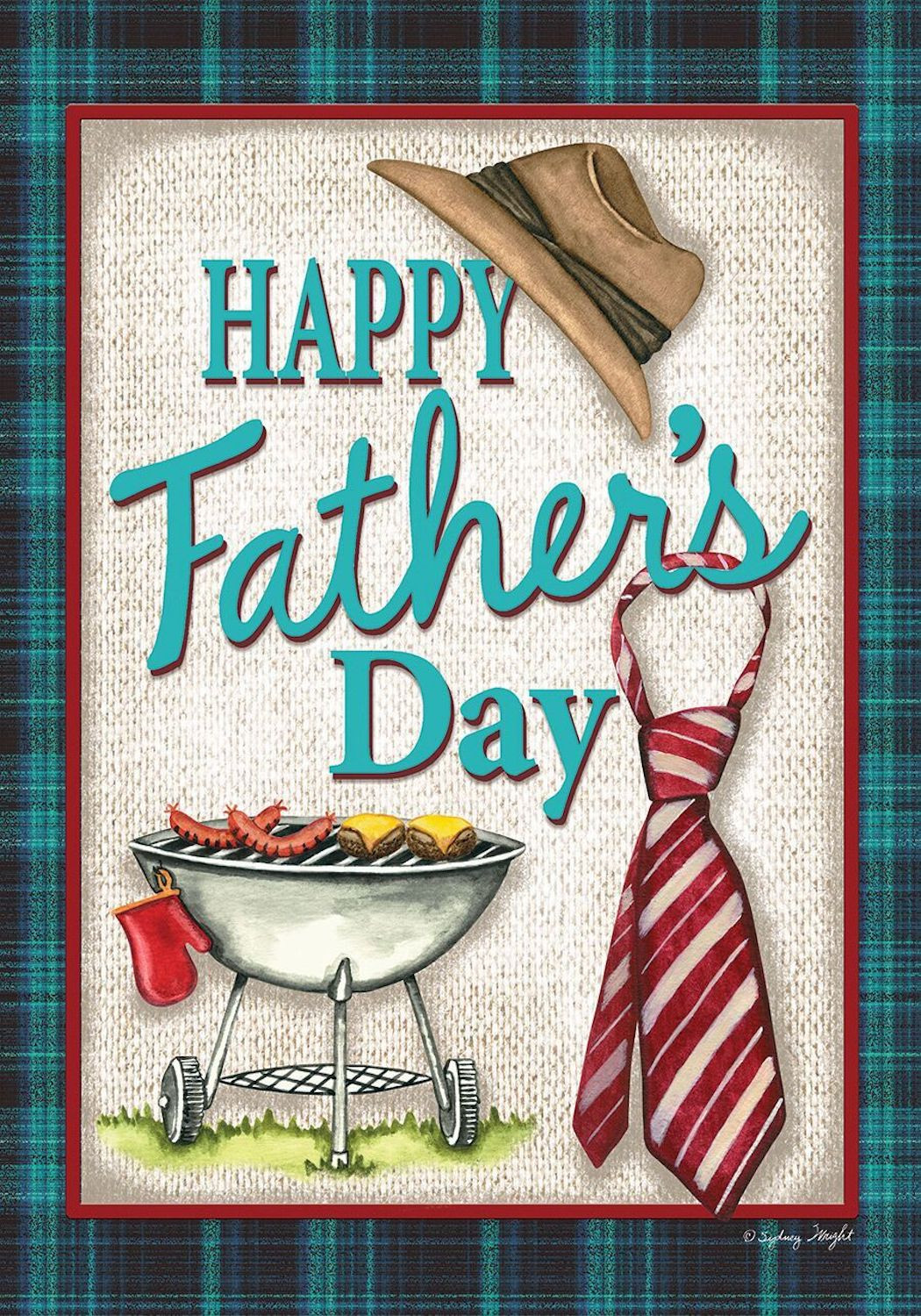 Best ideas about Father'S Day DIY . Save or Pin Happy Father s Day Grillin Garden Flag Hat and Tie Now.