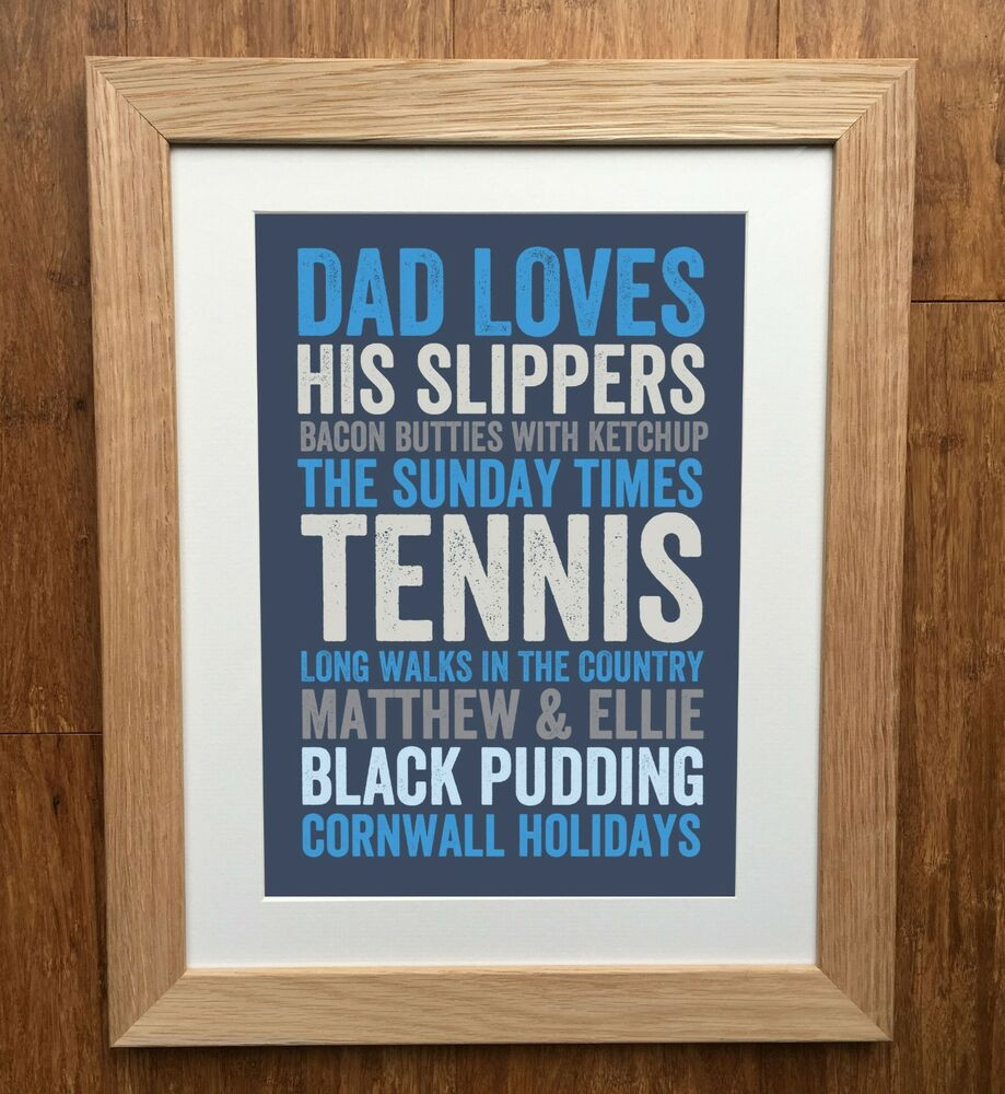 Best ideas about Father'S Day DIY . Save or Pin My Dad Loves Personalised Print Father s Day Gift Now.