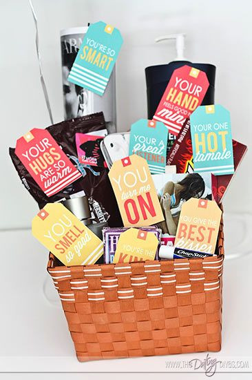Best ideas about Father'S Day Gift Ideas For Husband . Save or Pin Husband Gift Basket 10 Things I Love About You Now.